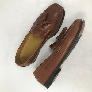 Cole Haan Brown Leather Tassel Loafers Mens 10.5 M